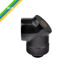 Thermaltake CL-W052-CU00BL-A Pacific G1/4 90 Degree Adapter – Black