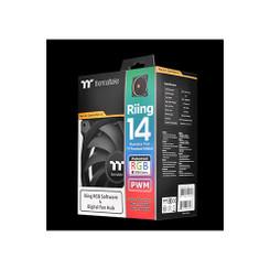 Thermaltake CL-F051-PL14SW-A TT Riing 14 RGB Radiator PWM Fan TT Premium Edition (3 Fan Pack)