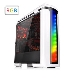 Thermaltake CA-1G9-00M6WN-00  Versa C22 RGB Snow Edition ATX Mid-Tower Chassis