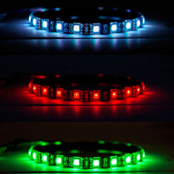 Kingwin KRGB-LED-12AD Vivid RGB Multi-Color 12inch Flexible LED Strip Kit w/ Remote