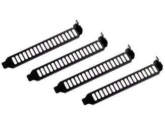 Silverstone SST-Aeroslots-BP Black Painted Aero Slots PCI Slot Cover (4 Pack)
