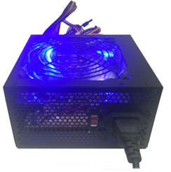 Shark ATX-750-LED 750W 120mm Quad Blue LED Fan Black ATX 12V V2.2 Power Supply