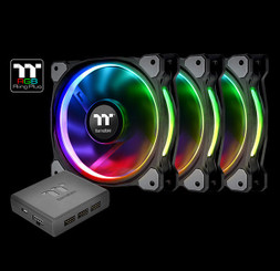 Thermaltake CL-F056-PL14SW-A Riing Plus 14 LED RGB Radiator Fan TT Premium Edition (3 Fan Pack)