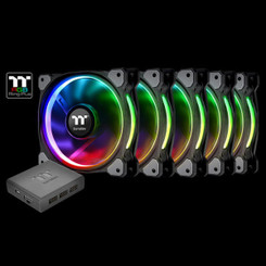 Thermaltake CL-F054-PL12SW-A Riing Plus 12 LED RGB Radiator Fan TT Premium Edition (5 Fan Pack)