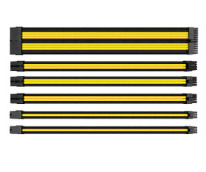 Thermaltake AC-047-CN1NAN-A1 TtMod Sleeve Cable Set – Yellow/Black