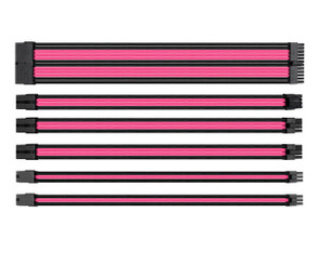Thermaltake AC-046-CN1NAN-A1 TtMod Sleeve Cable Set – Pink/Black