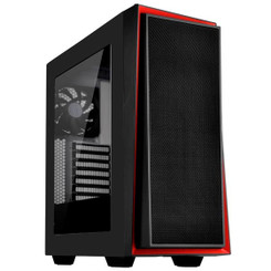 Silverstone SST-RL06BR-W  (Black with Red Trim + Window) ATX/MATX Case