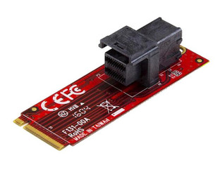 StarTech M2E4SFF8643 U.2 to M.2 PCI Express 3.0 Adapter Card for 2.5 inch NVMe SSD