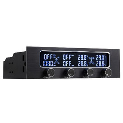 Kingwin FPX-008 5.25inch Bay LCD 4xCh Fan Controller/RPM,Temp Monitor