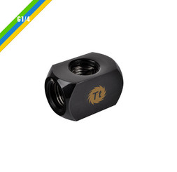 Thermaltake  CL-W034-CU00BL-A Pacific 4-Way G1/4 Connector Block – Black