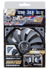 Scythe SU1225FD12M-RH (1200RPM) Kaze Flex 120 120x120x27mm Case Fan