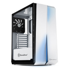 Silverstone SST-RL07W-G  (White + Tempered Glass Window) ATX/MATX Case