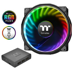 Thermaltake CL-F069-PL20SW-A Riing Plus 20 LED RGB Case Fan TT Premium Edition (Single Fan Pack with Controller)