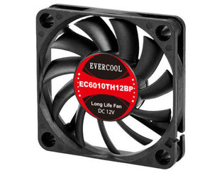 EverCool EC6010TH12BP  60 x 60 x 10mm Dual Ball Bearing PWM Fan, PWM 4Pin