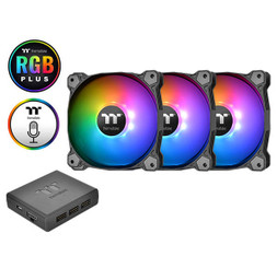 Thermaltake CL-F063-PL12SW-A Pure Plus 12 LED RGB Radiator Fan TT Premium Edition (3-Fan Pack)