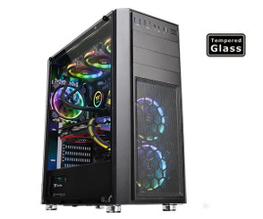 Thermaltake CA-1J5-00M1WN-00 Versa H26 Tempered Glass Edition Mid-Tower Chassis