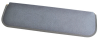 This sun visor pad in gray, LH=RH, fits 1947-1959 Chevrolet and GMC Pickup Truck, Suburban and Panel Trucks.