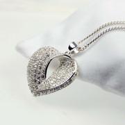 Silver Zirconia Heart Pendant for Women