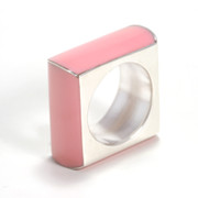 Enamel Silver Ring Pink