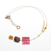 Antica Murrina Murano Glass Necklace Amber Feeling