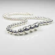 Elegant Silver Ball Necklace