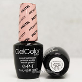 OPI GelColor PASTEL Are We There Yet?  GC 105 15ml 0.5oz Soak Off UV LED Gel Nail Polish #GC105