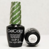 OPI GelColor GREEN ON THE RUNWAY  GC C18 15ml 0.5oz Coca Cola Collection UV LED Gel Nail Polish #GCC18