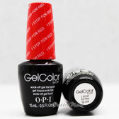 OPI GelColor I STOP FOR RED  GC A74 15ml 0.5oz Brights Collection UV LED Gel Nail Polish #GCA74