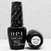 OPI GelColor BLACK DRESS NOT OPTIONAL  HP H03 15ml 0.5oz Breakfast At Tiffany's Collection UV LED Gel Nail Polish #HPH03