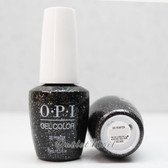 OPI GelColor DS PEWTER GC G05 15ml 0.5oz UV LED Gel Polish Textured Metallic Gray base with Silver Glitter