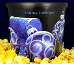 Gourmet Argires Popcorn Christmas Ornament Gift Tub. 1 gallon size. Cheese or Cheese & Caramel Mix or all Caramel Popcorn. Chicago Downtown Style Quality. Made fresh for great taste. Packed fresh for big smiles.