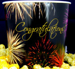 Gourmet Argires Popcorn Congratulations Gift Tub. 1 gallon size. Cheese or Cheese & Caramel Mix or all Caramel Popcorn. Chicago Downtown Style Quality. Made fresh for great taste. Packed fresh for big smiles.