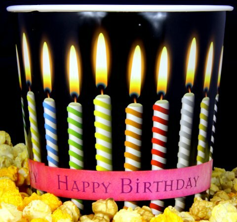 Gourmet Argires Popcorn Happy Birthday Gift Tub. ! gallon size. Cheese or Cheese & Caramel Mix or all Caramel Popcorn. Chicago Downtown Style Quality. Made fresh for great taste. Packed fresh for big smiles.