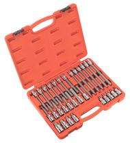 """Sealey AK2196 Hex Socket Bit Set 30pc 1/2""""Sq Drive"""