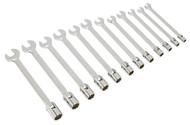 Sealey AK6352 Flexi-Head Socket/Open End Spanner Set 12pc Metric