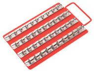 """Sealey AK2712 Socket Rail Tray 1/4"""", 3/8"""" & 1/2""""Sq Drive"""