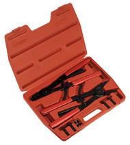 Sealey AK8501 Circlip Pliers Set Internal/External 400mm Heavy-Duty