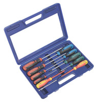 Sealey AK4303 Screwdriver Set with Carry-Case 11pc GripMAX¨
