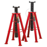Sealey AS10H Axle Stands (Pair) 10tonne Capacity per Stand High Level