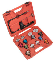 Sealey VS006 Cooling System Pressure Test Kit 16pc