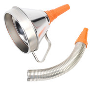 Sealey FM16F Funnel Metal with Flexible Spout & Filter ¯160mm