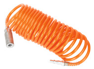 Sealey SA305 PU Coiled Air Hose 5mtr x ¯5mm with Couplings