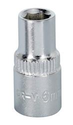 "Sealey S1406 WallDrive¨ Socket 6mm 1/4""Sq Drive"