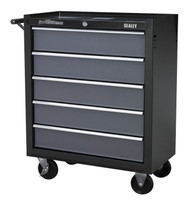 Sealey AP2505B Rollcab 5 Drawer with Ball Bearing Runners - Black/Grey