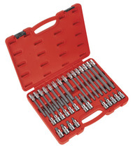 "Sealey AK2198 Ribe Socket Bit Set 32pc 1/2""Sq Drive"