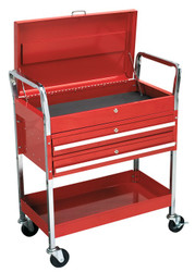 Sealey CX1042D Trolley 2-Level Heavy-Duty with Lockable Top & 2 Drawers