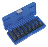 "Sealey AK5601 Impact Hex Socket Bit Set 8pc 1/2""Sq Drive"