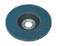 Sealey FD10060 Flap Disc Zirconium ¯100mm 16mm Bore 60Grit