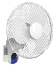"Sealey SWF16WR Wall Fan 3-Speed 16"" with Remote Control 230V"