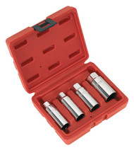 "Sealey AK6556 Spark Plug Socket Set 4pc 3/8""Sq Drive"